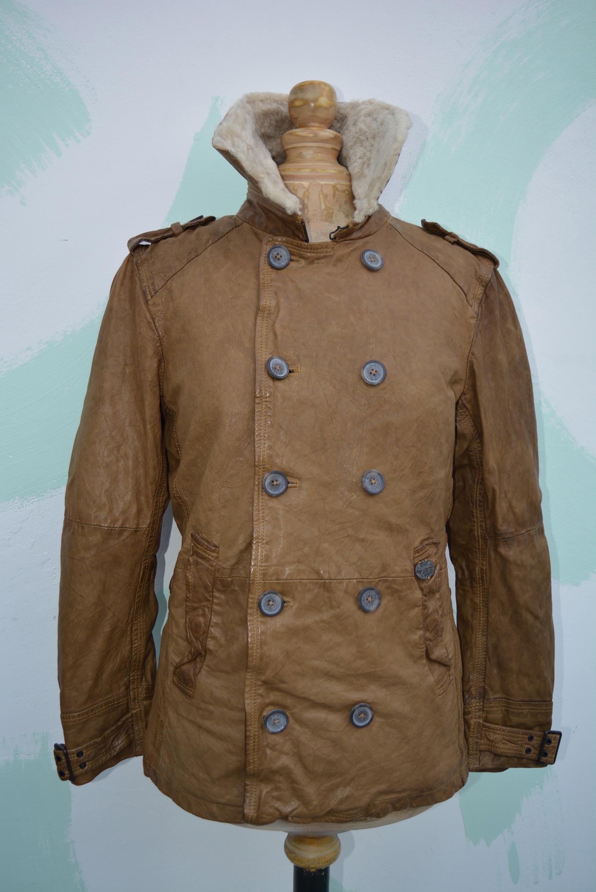 diesel langgai jacket leather herren lederjacke lammfell neu braun top angebot ebay. Black Bedroom Furniture Sets. Home Design Ideas
